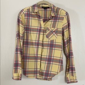 Soft Vintage Yellow Flannel